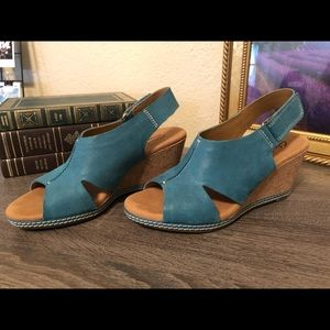Clark's Helio Float Wedge Sandals